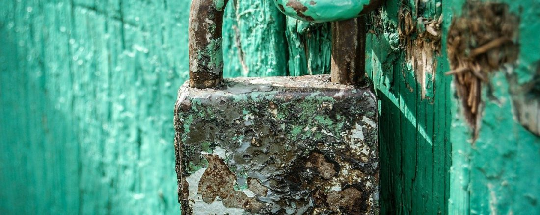 Old padlock locked
